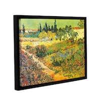 ArtWall 'Vincent VanGogh's Flowering Garden' Gallery Wrapped Floater-framed Canvas