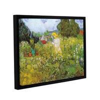ArtWall 'Vincent VanGogh's Marguerite Gachet in the Garden' Gallery Wrapped Floater-framed Canvas - Multi