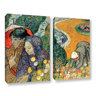 ArtWall 'Vincent VanGogh's Memory of the Garden at Etten (Ladies of Arles)' 2-piece Gallery Wrapped Canvas Set