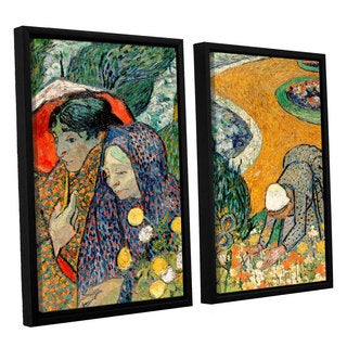 ArtWall 'Vincent VanGogh's Memory of the Garden at Etten (Ladies of Arles)' 2-piece Floater Framed Canvas Set