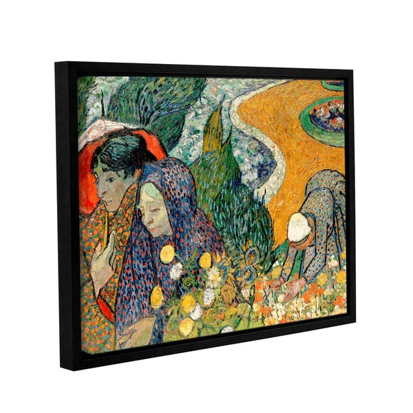 ArtWall 'Vincent VanGogh's Memory of the Garden at Etten (Ladies of Arles)' Gallery Wrapped Floater-framed Canvas