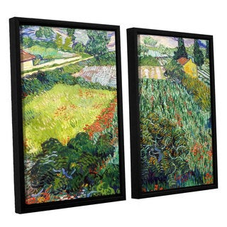 ArtWall 'Vincent VanGogh's Field with Poppies' 2-piece Floater Framed Canvas Set