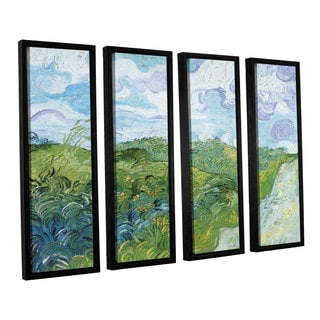 ArtWall 'Vincent VanGogh's Field with Green Wheat' 4-piece Floater Framed Canvas Set