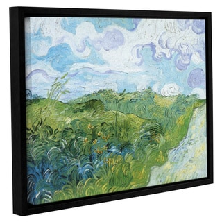 ArtWall 'Vincent VanGogh's Field with Green Wheat' Gallery Wrapped Floater-framed Canvas