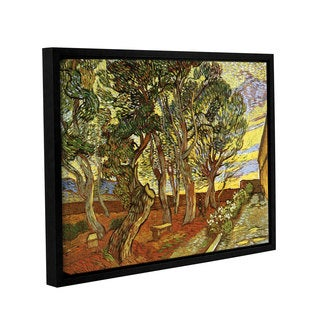 ArtWall 'Vincent VanGogh's A Corner of Saint-Paul Hospital' Gallery Wrapped Floater-framed Canvas