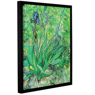 ArtWall 'Vincent VanGogh's The Iris' Gallery Wrapped Floater-framed Canvas