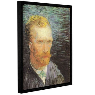 ArtWall 'Vincent VanGogh's Self Portrait (Summer 1887)' Gallery Wrapped Floater-framed Canvas