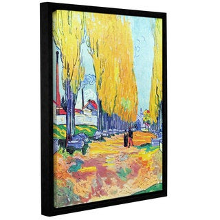 ArtWall 'Vincent VanGogh's Les Alyscamps' Gallery Wrapped Floater-framed Canvas