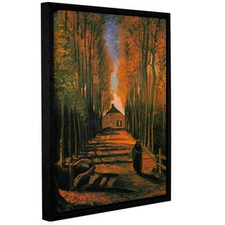 ArtWall 'Vincent VanGogh's Avenue of Poplars in Autumn' Gallery Wrapped Floater-framed Canvas