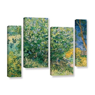 ArtWall 'Vincent VanGogh's Lilacs' 4-piece Gallery Wrapped Canvas Staggered Set