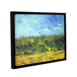 ArtWall 'Vincent VanGogh's Green Wheatfields' Gallery Wrapped Floater-framed Canvas