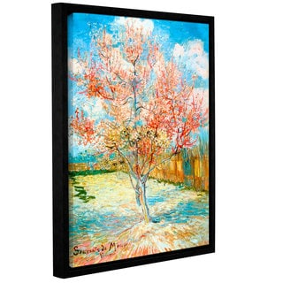 ArtWall 'Vincent VanGogh's Pink Peach Tree' Gallery Wrapped Floater-framed Canvas