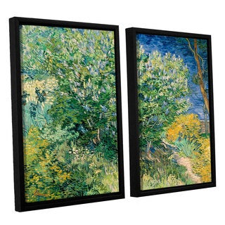 ArtWall 'Vincent VanGogh's Lilacs' 2-piece Floater Framed Canvas Set