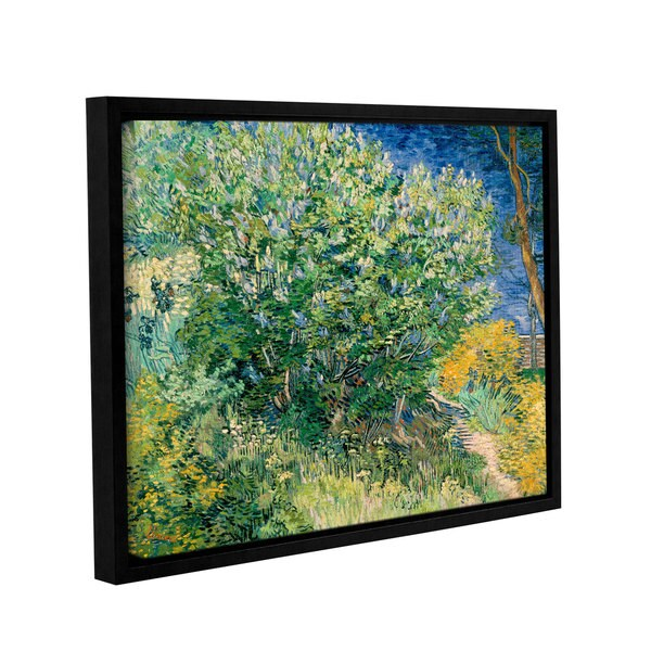 ArtWall 'Vincent VanGogh's Lilacs' Gallery Wrapped Floater-framed Canvas - Multi