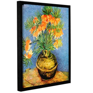 ArtWall 'Vincent VanGogh's Fritillaries' Gallery Wrapped Floater-framed Canvas
