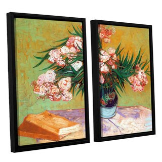 ArtWall 'Vincent VanGogh's Oleander' 2-piece Floater Framed Canvas Set
