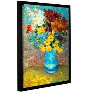 Link to ArtWall 'Vincent van Gogh's Flowers in Blue Vase' Gallery Wrapped Floater-framed Canvas Similar Items in Decorative Accessories