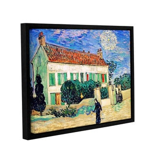 ArtWall 'Vincent VanGogh's The White House at Night' Gallery Wrapped Floater-framed Canvas