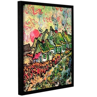 ArtWall 'Vincent VanGogh's Cottages Reminiscent of North' Gallery Wrapped Floater-framed Canvas