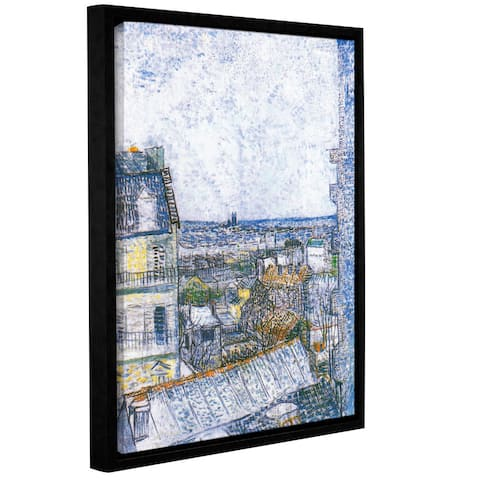 ArtWall 'Vincent van Gogh's Wall Paris From Vincent's Room' Gallery Wrapped Floater-framed Canvas