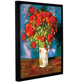ArtWall 'Vincent VanGogh's Poppies' Gallery Wrapped Floater-framed Canvas