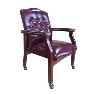 Boss Cambridge Oxblood Guest Chair