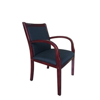 Boss Mahogany Wood Side Guest Chair
