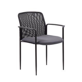 Boss Stackable Grey Mesh Guest Chair
