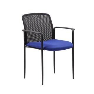Boss Stackable Blue Mesh Guest Chair