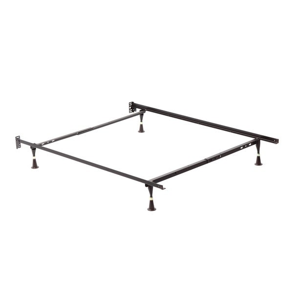 Shop Twin Full Angle Iron Steel Bed Frame With Glides