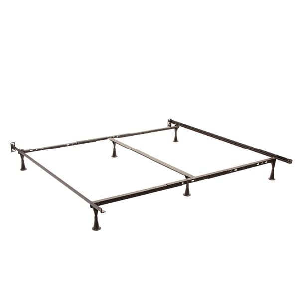 queen king cal king angle iron steel bed frame with 2 inch center