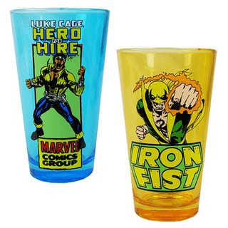 Ironfist and Luke Cage 16-ounce 2-Pack Pint Glasses