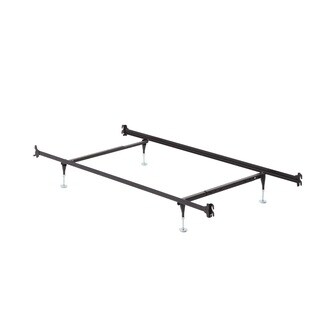 Twin/ Full Hook On Angle Iron Steel Bed Frame with Headboard and Footboard Brackets