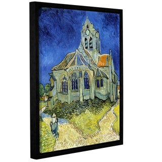 ArtWall 'Vincent VanGogh's The Church at Auvers' Gallery Wrapped Floater-framed Canvas