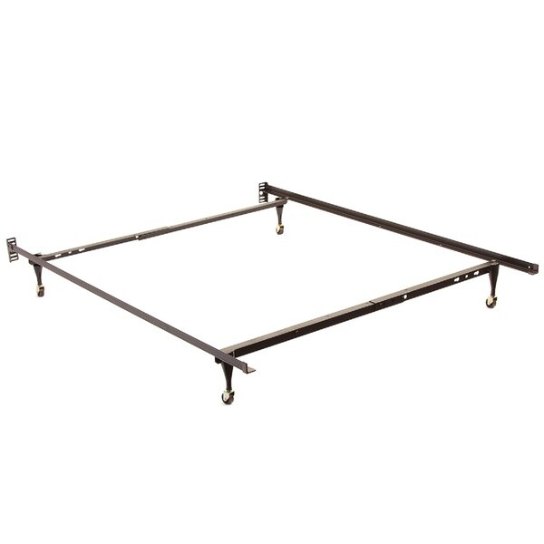 Shop Twin Full Angle Iron Steel Bed Frame With Casters