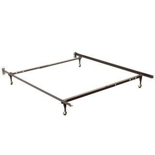 Twin/ Full Angle Iron Steel Bed Frame with Casters