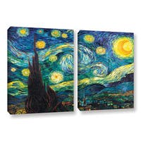 ArtWall 'Vincent VanGogh's Starry Night' 2-piece Gallery Wrapped Canvas Set