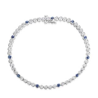 Andrew Charles 18k White Gold 2ct TDW Diamond and Sapphire Tennis Bracelet|https://ak1.ostkcdn.com/images/products/11370830/P18340703.jpg?impolicy=medium