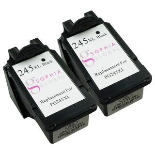 Sophia Global Remanufactured Ink Cartridge Replacement for PG-245XL (2 Black)