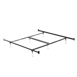 Queen/ King Hook On Angle Iron Steel Bed Frame with Headboard and Footboard Brackets