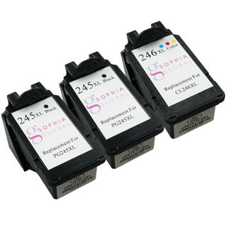 Sophia Global Remanufactured Ink Cartridge Replacement for PG-245XL and CL-246XL (2 Black, 1 Color)