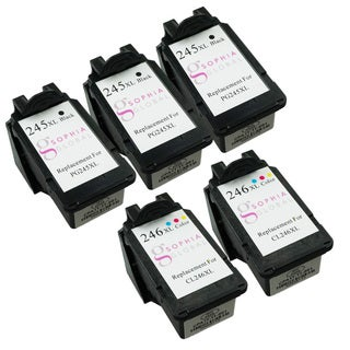 Sophia Global Remanufactured Ink Cartridge Replacement for PG-245XL and CL-246XL (3 Black, 2 Color)