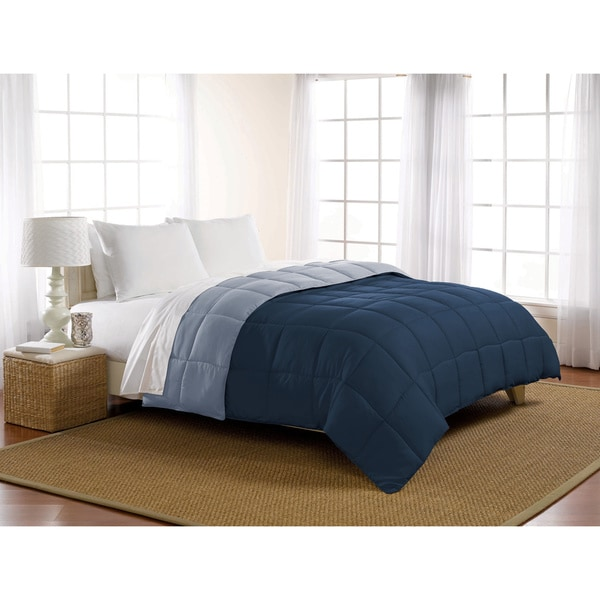 Luxlen Reversible Microfiber Down Alternative Comforter