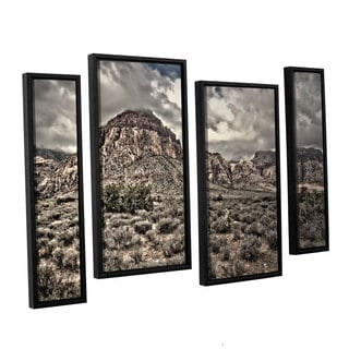 ArtWall 'Mark Ross's No Distractions' 4-piece Floater Framed Canvas Staggered Set