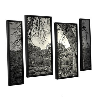 ArtWall 'Mark Ross's Listen to Whispers' 4-piece Floater Framed Canvas Staggered Set