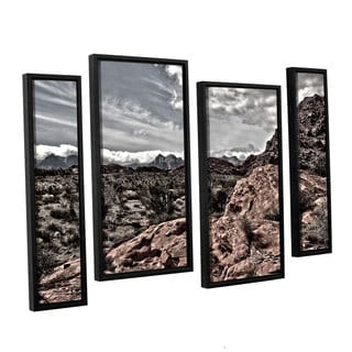 ArtWall 'Mark Ross's Fingertip Afternoon' 4-piece Floater Framed Canvas Staggered Set