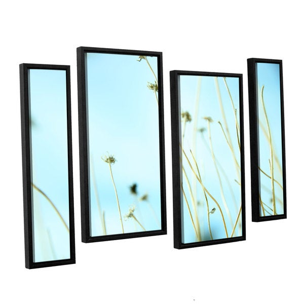 ArtWall 'Mark Ross's 30 Second Daydream' 4-piece Floater Framed Canvas Staggered Set