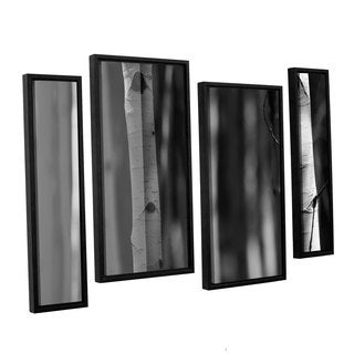 ArtWall 'Mark Ross's A Way Out' 4-piece Floater Framed Canvas Staggered Set