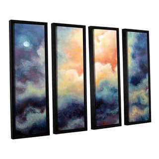 ArtWall 'Marina Petro's Marina' 4-piece Floater Framed Canvas Set