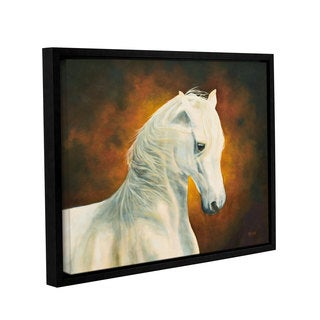 ArtWall 'Marina Petro's White Magic' Gallery Wrapped Floater-framed Canvas